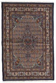 Moud Szőnyeg 98X150 Keleti Csomózású Sötétbarna/Világosszürke (Gyapjú/Selyem, Perzsia/Irán)