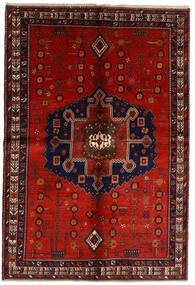 Afshar Szőnyeg 158X232 Keleti Csomózású Sötétpiros/Rozsdaszín (Gyapjú, Perzsia/Irán)