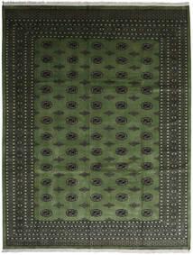 Pakisztáni Bokhara 2Ply Szőnyeg 280X363 Keleti Csomózású Sötétzöld/Sötétszürke Nagy (Gyapjú, Pakisztán )
