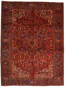 Heriz Szőnyeg 302X403 Keleti Csomózású Sötétpiros/Sötétbarna Nagy (Gyapjú, Perzsia/Irán)