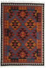 Kilim Isparta Szőnyeg 160X230 Modern Kézi Szövésű Sötétpiros/Fekete (Gyapjú, India)