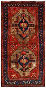 Nahavand Szőnyeg 125X246 Keleti Csomózású Rozsdaszín/Sötétlila/Sötétbarna (Gyapjú, Perzsia/Irán)