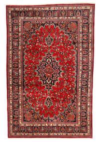 Mashad Szőnyeg 190X295 Keleti Csomózású Sötétpiros/Rozsdaszín/Sötétbarna (Gyapjú, Perzsia/Irán)