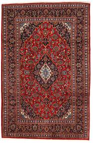 Kashan Szőnyeg 195X294 Keleti Csomózású Sötétpiros/Fekete (Gyapjú, Perzsia/Irán)