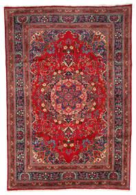 Mashad Szőnyeg 199X297 Keleti Csomózású Sötétpiros/Sötétbarna (Gyapjú, Perzsia/Irán)