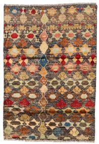 Moroccan Berber - Afghanistan Szőnyeg 116X167 Modern Csomózású Sötétpiros/Sötét Bézs (Gyapjú, Afganisztán)