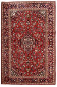 Kashan Szőnyeg 132X203 Keleti Csomózású Sötétpiros/Sötétbarna (Gyapjú, Perzsia/Irán)