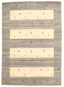 Loribaf Loom Szőnyeg 168X239 Modern Csomózású Világosszürke/Sárga (Gyapjú, India)