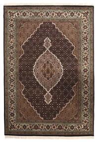 Tabriz Royal Szőnyeg 167X240 Keleti Csomózású Sötétbarna/Világosszürke ( India)