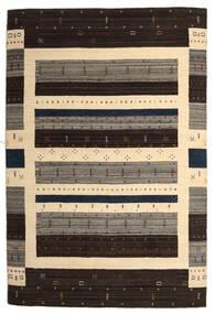 Loribaf Loom Szőnyeg 203X304 Modern Csomózású Sötétbarna/Bézs (Gyapjú, India)