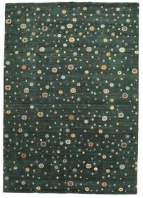Loribaf Loom Szőnyeg 241X345 Modern Csomózású Sötétzöld (Gyapjú, India)