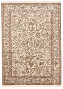 Kashmir Tiszta Selyem Szőnyeg 157X213 Keleti Csomózású Barna/Világos Rózsaszín (Selyem, India)