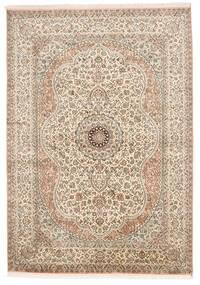 Kashmir Tiszta Selyem Szőnyeg 155X221 Keleti Csomózású Világos Rózsaszín/Világosszürke (Selyem, India)