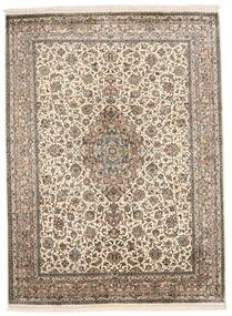 Kashmir Tiszta Selyem Szőnyeg 160X220 Keleti Csomózású Világosszürke/Bézs/Krém (Selyem, India)