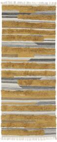 Sunny - Sárga Szőnyeg 100X250 Modern Kézi Szövésű Barna/Sötétbarna (Gyapjú, India)