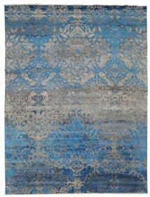 Damask Indiai Szőnyeg 275X362 Modern Csomózású Világosszürke/Kék Nagy (Gyapjú/Bamboo Selyem, India)