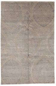Damask Indiai Szőnyeg 169X260 Modern Csomózású Világosszürke (Gyapjú/Bamboo Selyem, India)