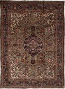 Tabriz Szőnyeg 259X349 Keleti Csomózású Fekete/Sötétbarna Nagy (Gyapjú, Perzsia/Irán)