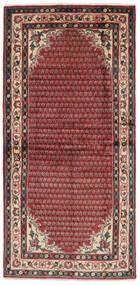 Sarough Mir Szőnyeg 102X214 Keleti Csomózású Sötétbarna/Fekete (Gyapjú, Perzsia/Irán)