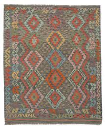 Kilim Afgán Old Style Szőnyeg 162X193 Keleti Kézi Szövésű Sötétzöld/Sötétbarna (Gyapjú, Afganisztán)