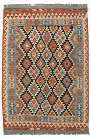 Kilim Afgán Old Style Szőnyeg 123X180 Keleti Kézi Szövésű Sötétzöld/Sötétpiros (Gyapjú, Afganisztán)