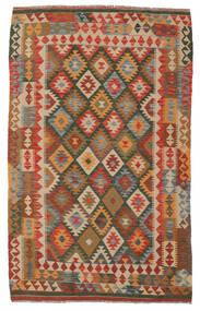 Kilim Afgán Old Style Szőnyeg 155X245 Keleti Kézi Szövésű Sötétbarna/Barna (Gyapjú, Afganisztán)