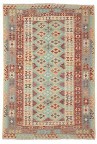 Kilim Afgán Old Style Szőnyeg 165X240 Keleti Kézi Szövésű Sötétbarna/Sötétzöld (Gyapjú, Afganisztán)