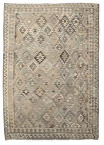 Kilim Afgán Old Style Szőnyeg 208X285 Keleti Kézi Szövésű Sötétbarna/Világosbarna (Gyapjú, Afganisztán)